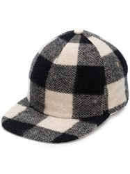 R 13 R13 Checked Baseball Cap Nude And Neutrals