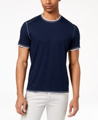 Inc International Concepts I.N.C. Soft Touch T Shirt Basic Navy