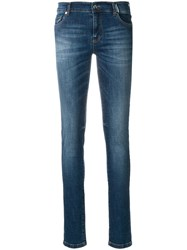 Versace Jeans Faded Stretch Skinny Jeans Blue