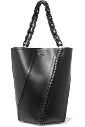 Proenza Schouler Hex Paneled Leather Tote Black