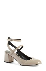Rebecca Minkoff Women's 'Brooke' Ankle Strap Pump Winter Fog Patent Leather