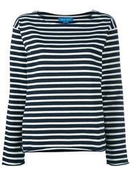 Mih Jeans Striped Longsleeved T Shirt Blue