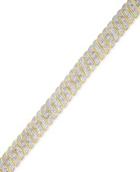 Victoria Townsend Diamond S Link Bracelet 1 Ct. T.W. In 18K Gold Over Brass