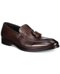 Alfani Men's Declan Leather Tassel Loafers Only At Macy's Men's Shoes Brown
