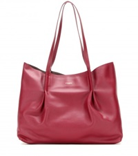 Nina Ricci Leather Shopper Red