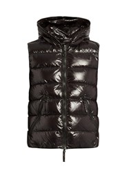 Duvetica Aristeo Hooded Quilted Down Gilet Black