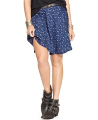 Denim And Supply Ralph Lauren Floral Print Mini Skirt Floral Multi