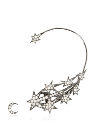 Runa Jewellery Star Ear Cuff And Moon Stud Black Silver