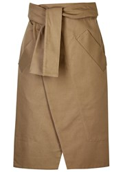 Each X Other Sand Cotton Wrap Skirt