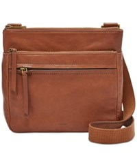 Fossil Leather Corey Crossbody Brown