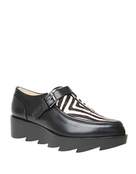 William Rast Dee Calf Hair Flatform Shoes Black