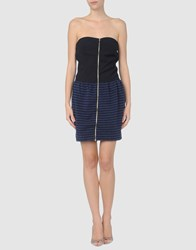Met Dresses Short Dresses Women Dark Blue