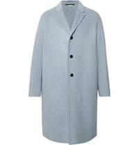 Acne Studios Chad Oversized Wool And Cashmere Blend Coat Sky Blue
