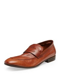 Berluti Lorenzo Unlined Leather Loafer Brown Cuoio