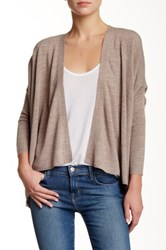 Sweet Romeo Open Front Hanky Hem Cardi Brown