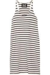 Nlst Striped Cotton Jersey Mini Dress White
