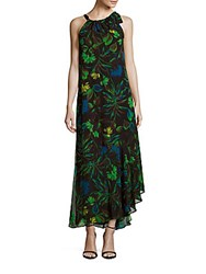 Taylor Printed Roundneck Sleeveless Dress Black Multicolor