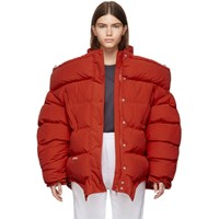 Vetements Red Upside Down Puffer Jacket