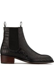 Giuseppe Zanotti Embossed Croc Effect Ankle Boots 60