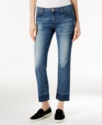 Michael Kors Released Hem Vintage Blue Wash Straight Leg Jeans