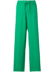 Red Valentino Wide Leg Trousers Green