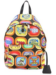 Moschino Multicolor Troll Print Backpack