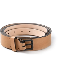 Christophe Lemaire Double Strap Belt Nude And Neutrals