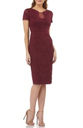 Js Collections Lace Cocktail Dress Dark Berry