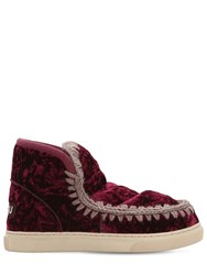 Mou 40Mm Mini Eskimo Velvet Boots Bordeaux