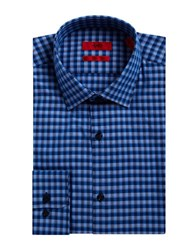 Hugo Checked Dress Shirt Blue