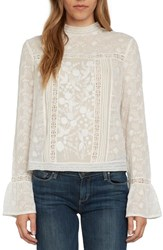 Willow And Clay Women's Vintage Blouse Ivory