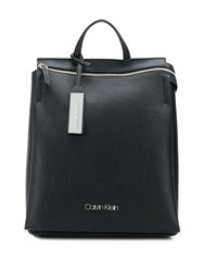 Calvin Klein Sided Faux Leather Backpack 001 Black