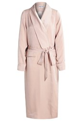 Neon Rose Hammered Trenchcoat Nude Beige