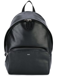 Tod's Zip Around Backpack Men Cotton Calf Leather One Size Black