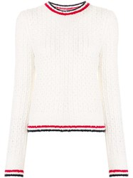 Thom Browne Crewneck Pullover With Red White