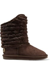 Australia Luxe Collective Shogun Shearling Ankle Boots Dark Brown