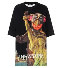 Undercover Oversized Printed Cotton T Shirt Multicoloured