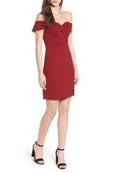 Speechless 'S Off The Shoulder Body Con Dress Wine