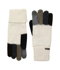 Steve Madden Color Block Boyfriend Gloves Ivory Extreme Cold Weather Gloves White