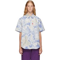 Martine Rose Blue Floral Woven Shirt