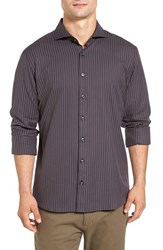 Singer Sargent Men's Regular Fit Pinstripe Sport Shirt