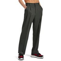 Cmmn Swdn Worsted Wool Pleated Front Trousers Gray