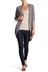 Painted Threads Open Cardigan Gray