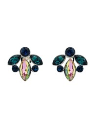 Monet Peacock Navette Crystal Clip Earrings N A N A