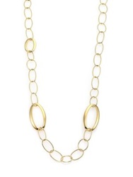 Ippolita Glamazon 18K Yellow Gold Mixed Oval Link Necklace