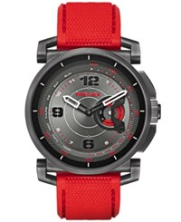 Diesel Men's On Time Red Silicone Strap Smart Watch 58Mm