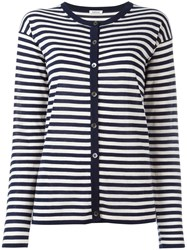 P.A.R.O.S.H. Striped Cardigan Blue