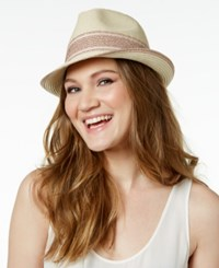 Inc International Concepts Sparkle Stripe Fedora Only At Macy's Blush