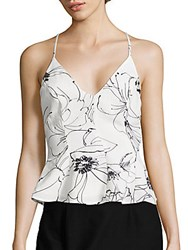 Keepsake Heat Wave Floral Sleeveless Blouse Sketch Flower