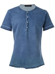 Christian Pellizzari Denim T Shirt Blue